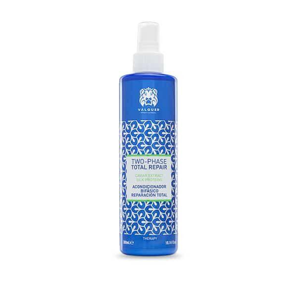 Valquer Acondicionador bifásico reparación total para cabellos dañados. 300 ml.