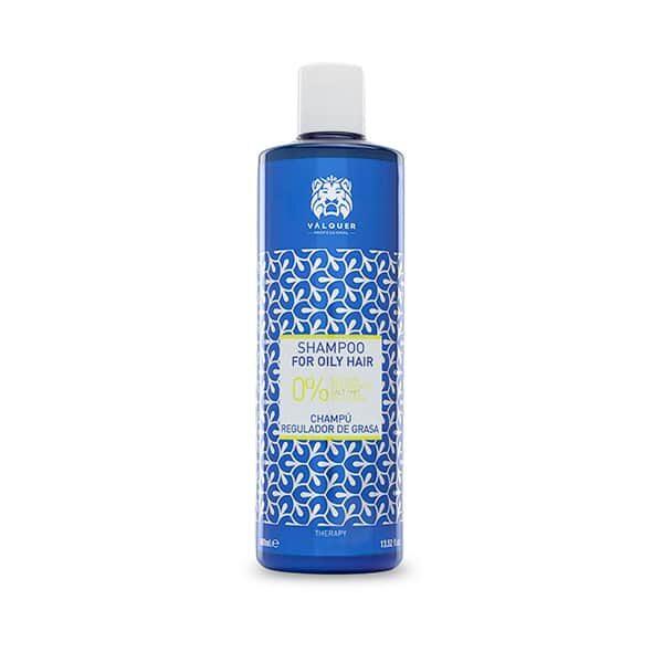 Valquer Champú Zero % regulador de grasa para cabellos grasos - 400 ml.