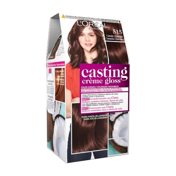 L'OREAL PARIS Casting Creme Gloss Baño de Color 515 Castaño Chocolate
