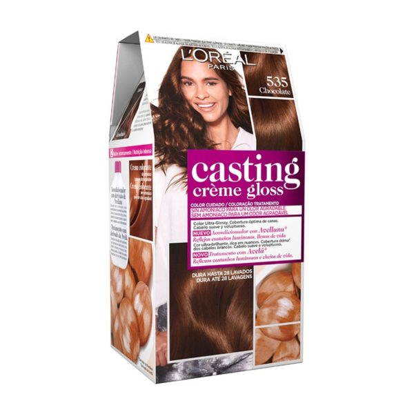 L'OREAL PARIS Casting Creme Gloss Baño de Color 535 Chocolate