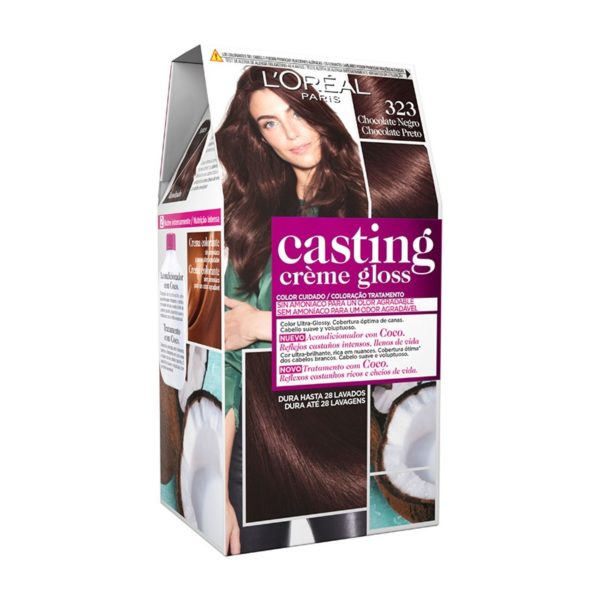 L'OREAL PARIS Casting Creme Gloss Baño de Color 323 Chocolate Negro