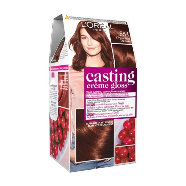 L'OREAL PARIS Casting Creme Gloss Baño de Color 554 Chocolate Picante