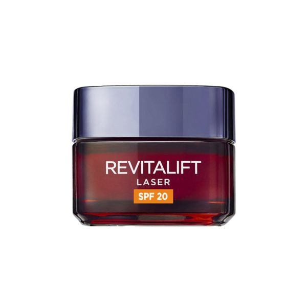 L'Oréal Paris Revitalift Láser Crema de Día Anti-Edad renovadora con protección solar SPF20 - con Proxylane -50 ml