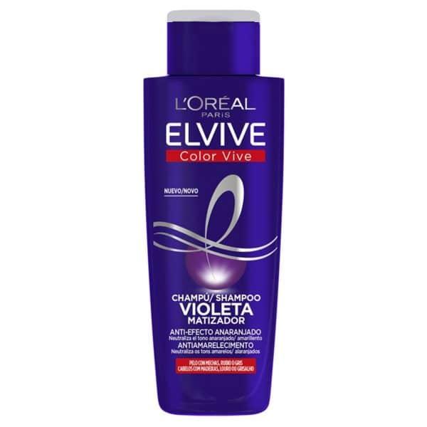 L´Oréal ParisElvive Color Vive Champú Violeta Matizador para el pelo con mechas, rubio, decolorado o gris 200ml