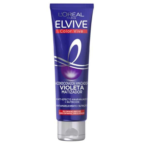 L´Oréal Paris Elvive Color Vive Mascarilla Violeta Matizadora para el pelo con mechas, rubio o gris 150ml