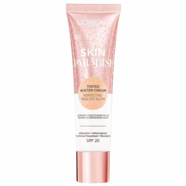 L'Oréal Paris Skin Paradise Water-Cream hidratante con color y SPF 20, tono piel claro LIGHT 01