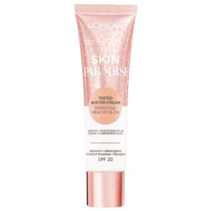 L'Oréal Paris Skin Paradise Water-Cream hidratante con color y SPF 20, tono piel medio MEDIUM 01