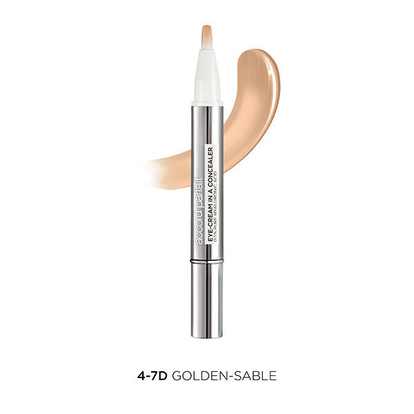 L'Oréal París Accord corrector Parfait Eye Cream in a Concealer tono medio oscuro 4-7D Golden-Sable