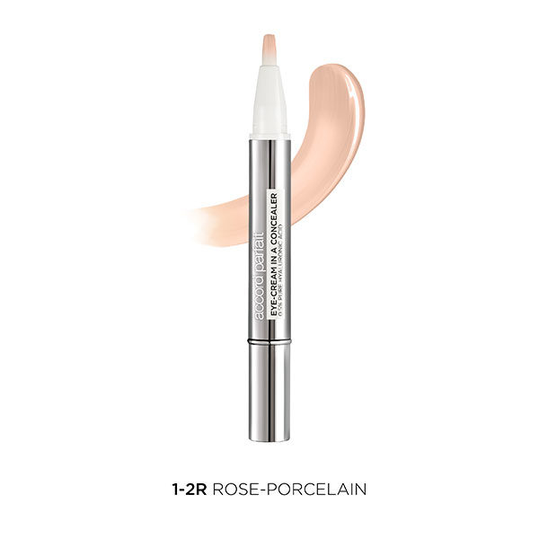 L'Oréal París Accord corrector Parfait Eye Cream in a Concealer tono claro 1-2R Rose-Porcelain