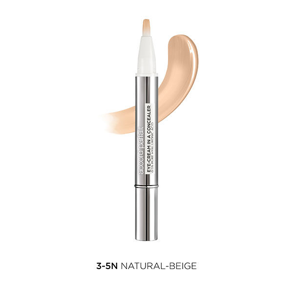 L'Oréal París Accord corrector Parfait Eye Cream in a Concealer tono medio 3-5N Natural-Beige
