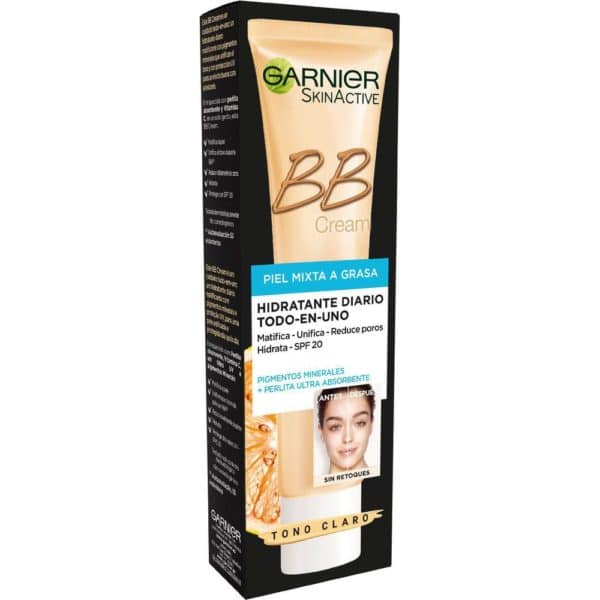 Skin Natural BB Cream piel mixta grasa - Claro