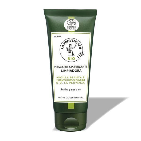 La Provençale Bio Mascarilla Purificante Limpiadora con Arcilla Blanca y Extracto Puro de Aceite de Oliva Bio - 100ml