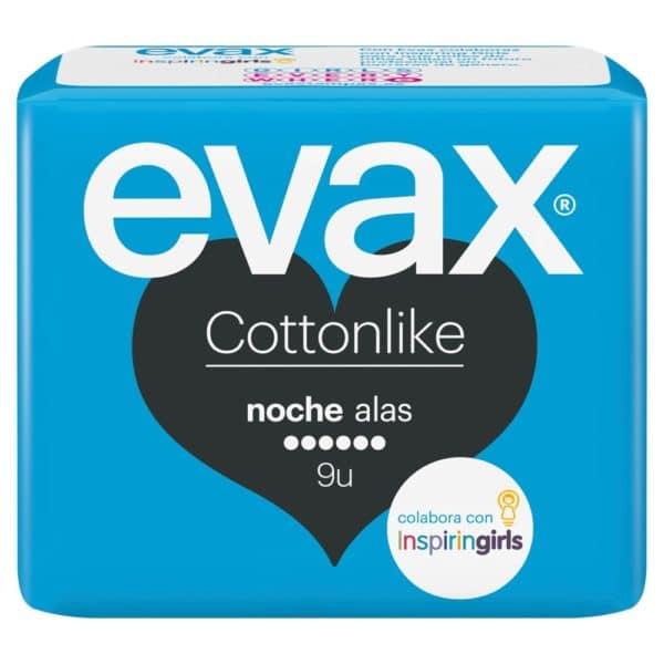 EVAX Compresas Cottonlike Noche Alas 9 uds