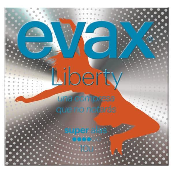 EVAX Compresas Liberty Super Alas 10 uds