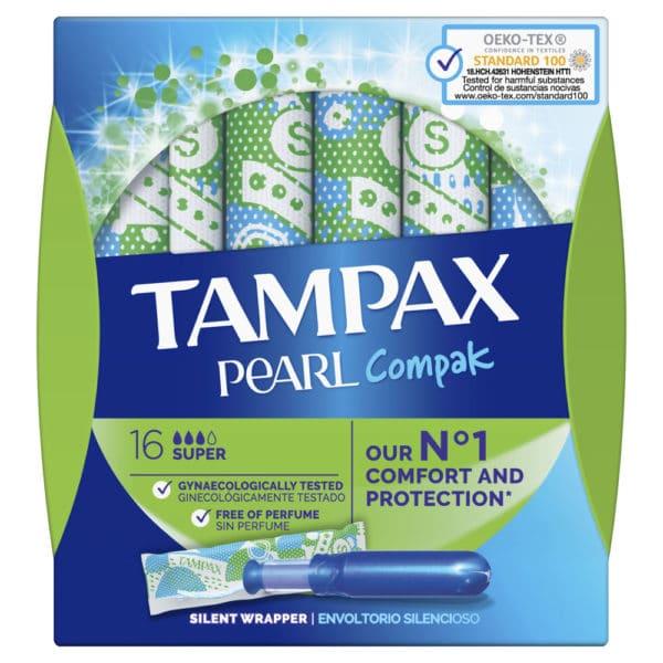 TAMPAX Compak Pearl Super 16 uds