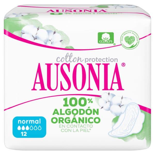 AUSONIA Compresas Normal Alas Organic 12 uds