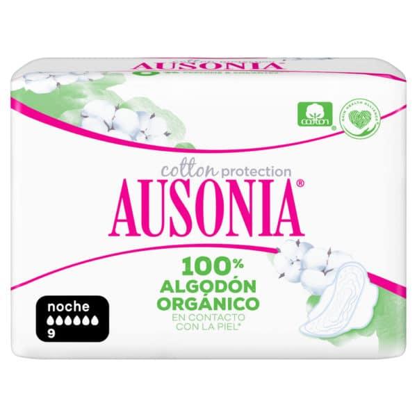 AUSONIA Compresas Noche Alas Organic 9 uds