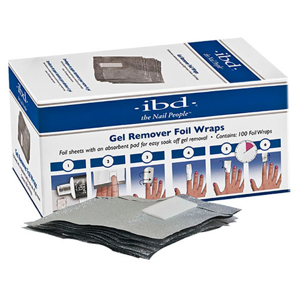 Ibd Just Gel láminas de aluminio. Remover foil wraps. 100 ct