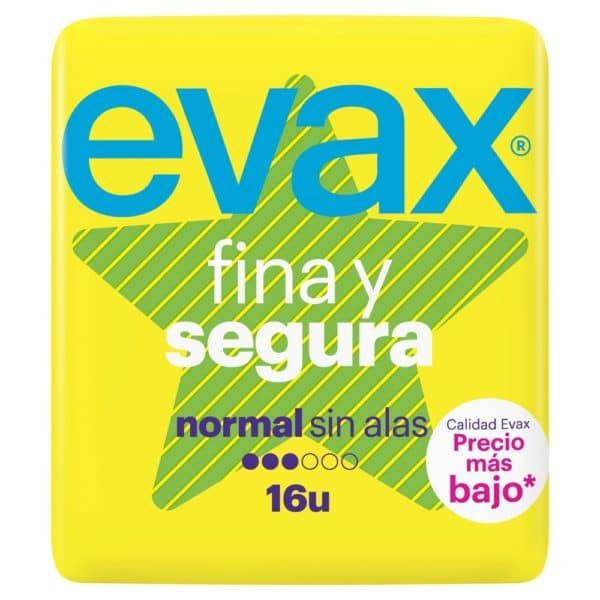EVAX Compresas Fina y Segura Normal Sin Alas 16 uds