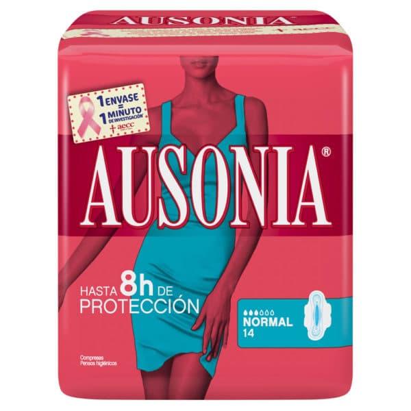 AUSONIA Compresas Normal Alas 14 uds