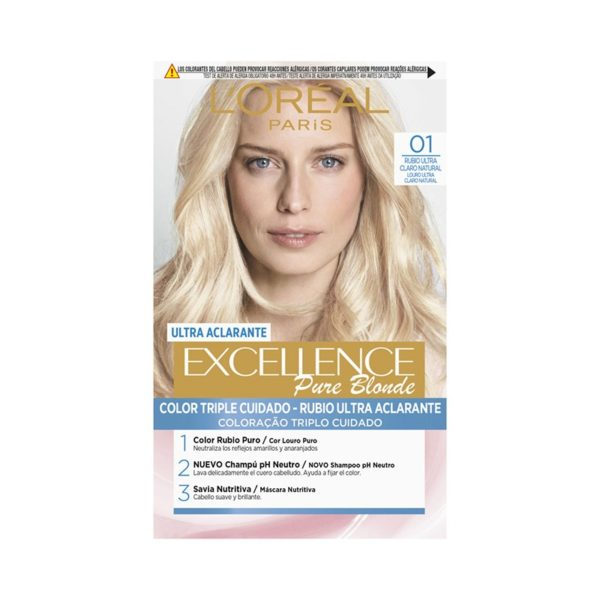 L´ORÉAL PARIS Excellence Pure Blonde Ultra-Aclarante - Tono 01 Rubio Ultra Claro Natural