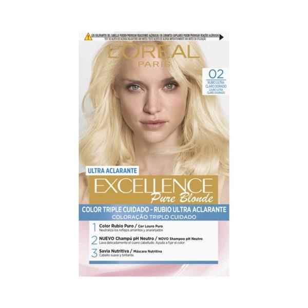 L´ORÉAL PARIS Excellence Pure Blonde Ultra-Aclarante - Tono 02 Rubio Ultra Claro Dorado