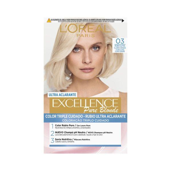 L´ORÉAL PARIS Excellence Pure Blonde Ultra-Aclarante - Tono 03 Rubio Ultra Claro Ceniza