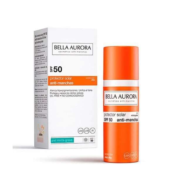 Bella Aurora GEL SOLAR FP50 PIEL GRASA
